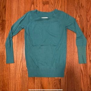 LOFT Women's Teal Sweater